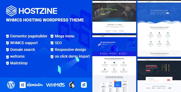 Hostzine - бесплатная WordPress тема