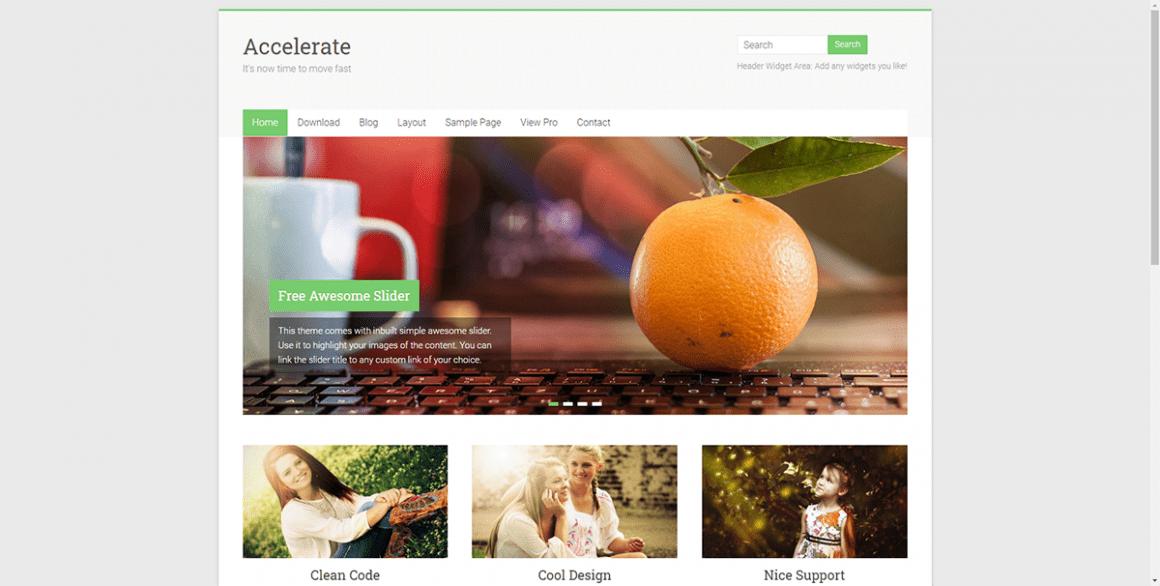 Accelerate – Лучшие и бесплатные темы для WordPress