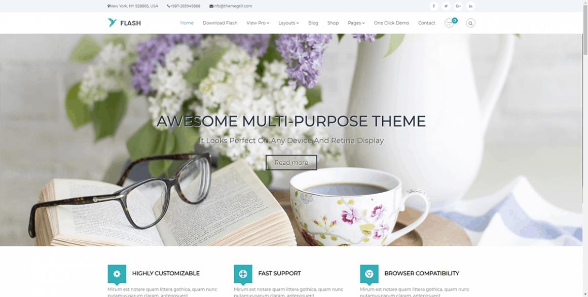 Flash – Бесплатные и лучшие темы для WordPress
