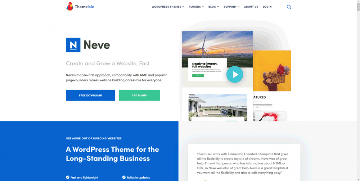 Neve - Лучшие и бесплатные темы для WordPress