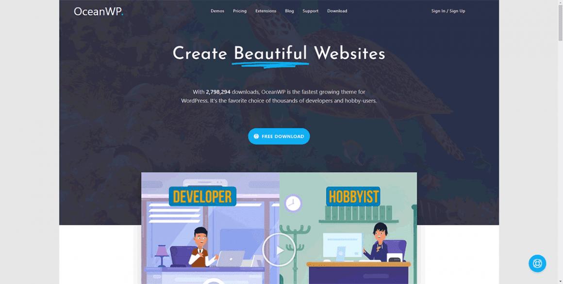 OceanWP - Лучшие и бесплатные темы для WordPress