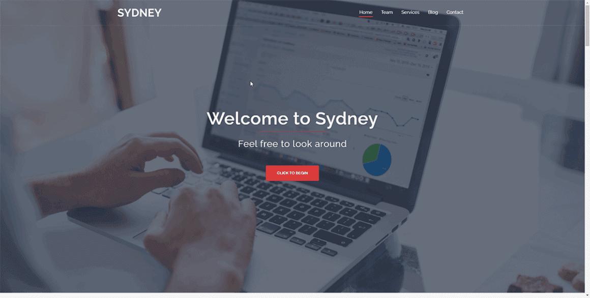 Sydney - Лучшие и бесплатные темы для WordPress