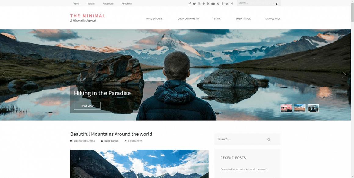 The Minimal - Лучшие и бесплатные темы для WordPress
