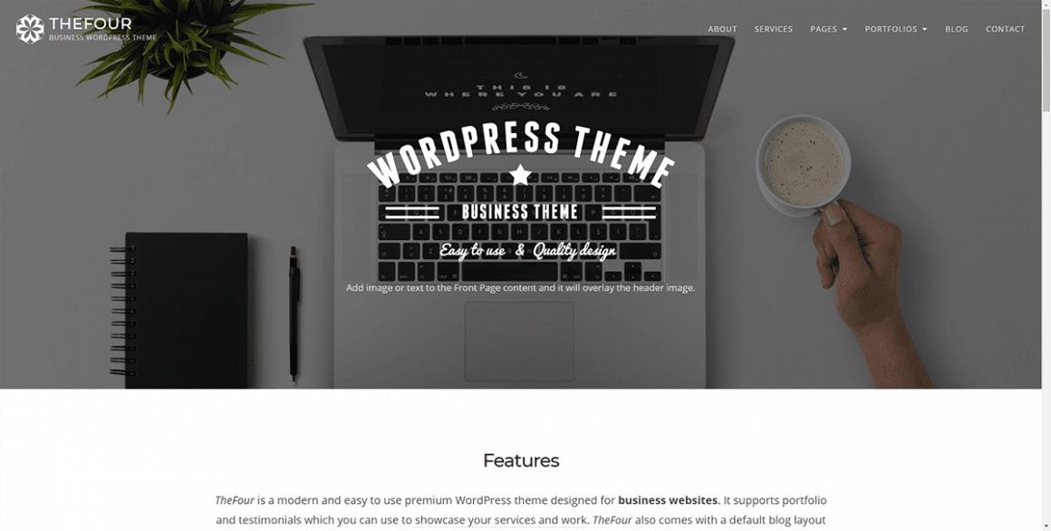 TheFour - Лучшие и бесплатные темы для WordPress