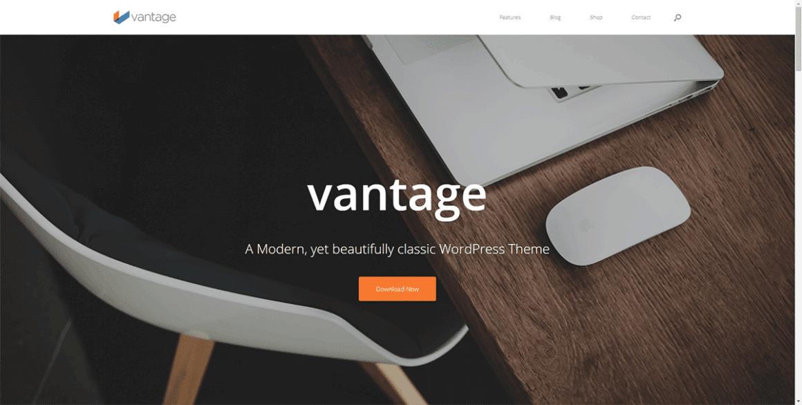 Vantage  – Лучшие и бесплатные темы для WordPress
