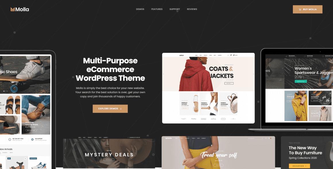 Molla – Шаблон интернет магазина для WordPress