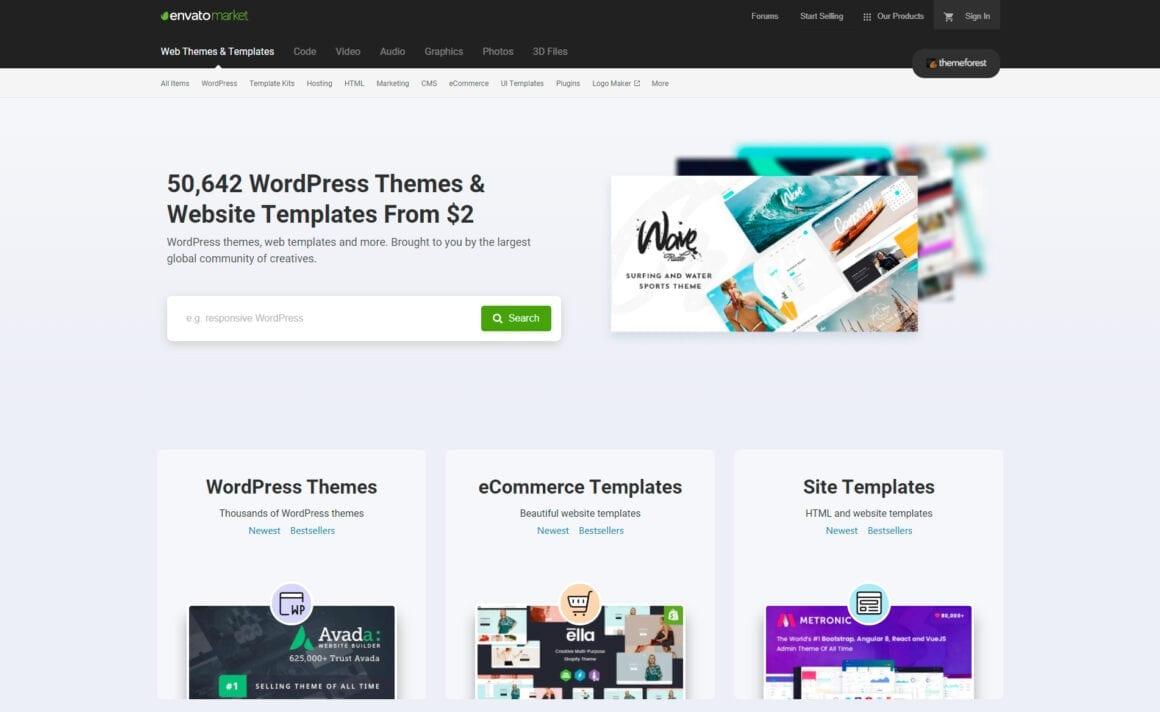 ThemeForest – Премиум шаблоны для WordPress