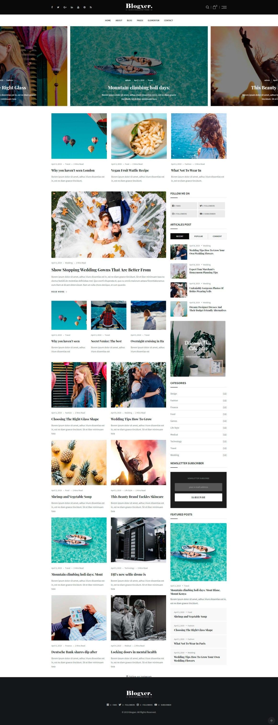 Шаблон для персонального блога WordPress