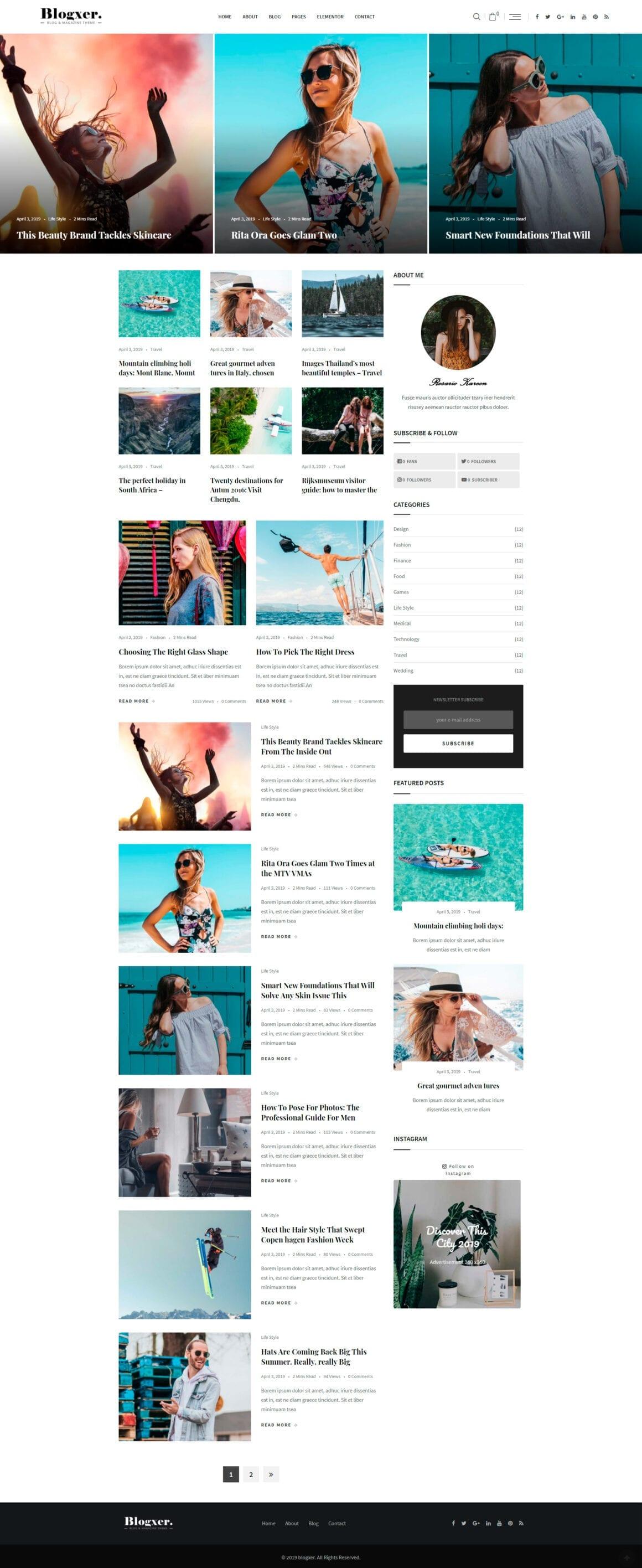 Темы для персонального WordPress блога