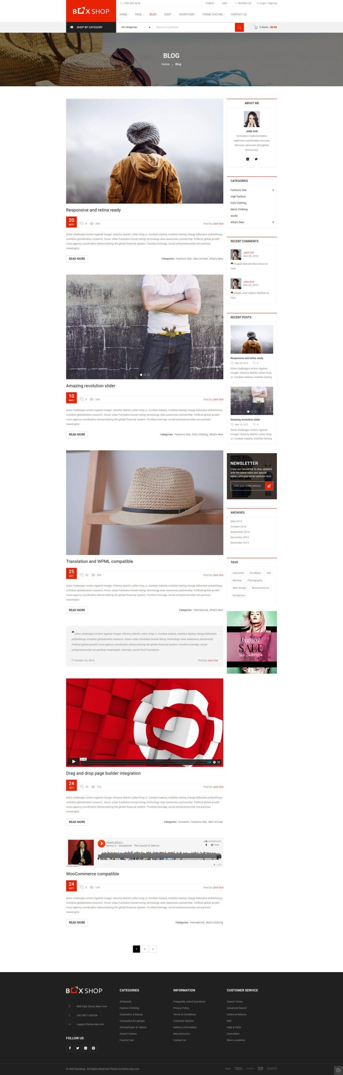 Темы интернет-магазина для ВордПресс