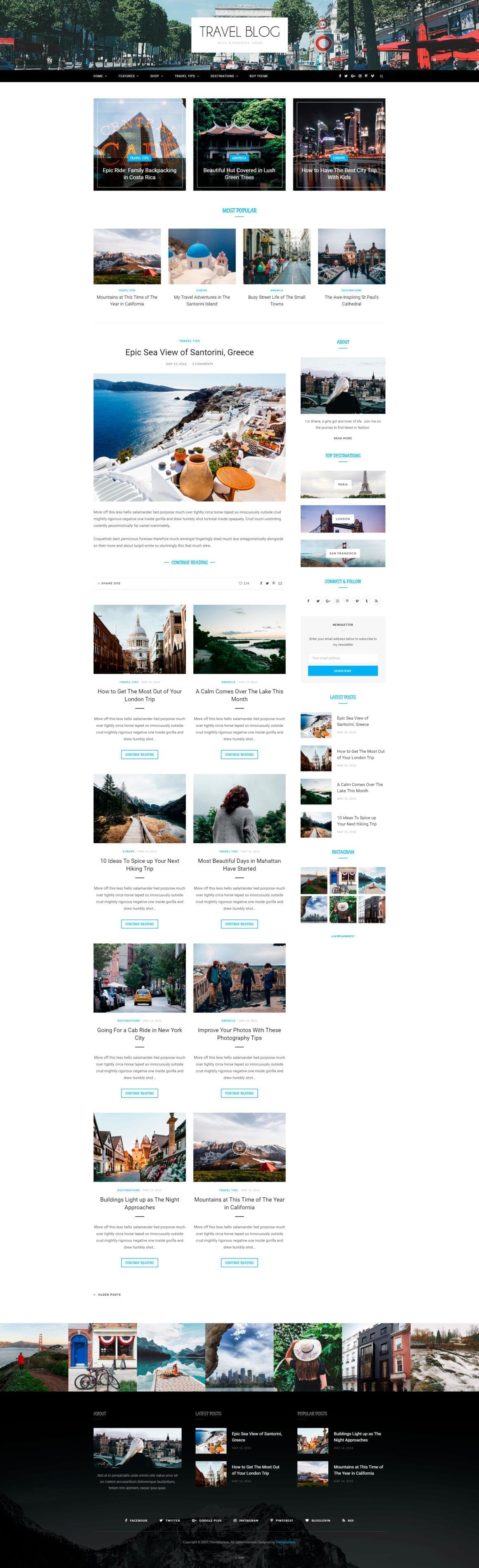 Шаблоны для блога WordPress