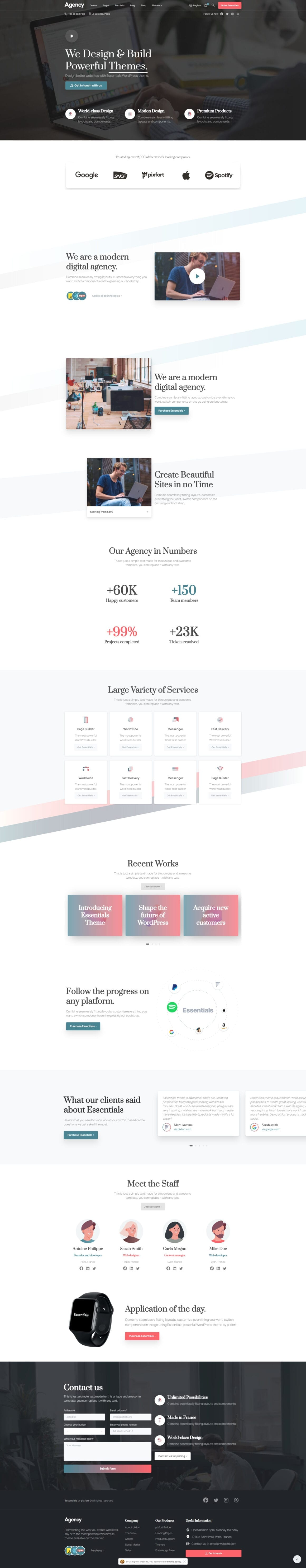WordPress тема для Elementor