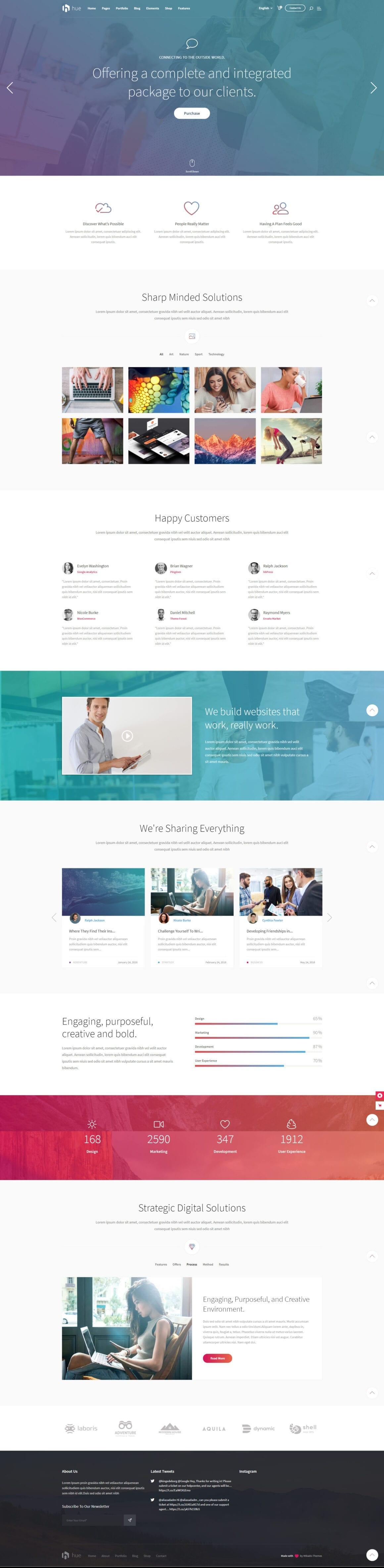 WordPress тема для лэндинга