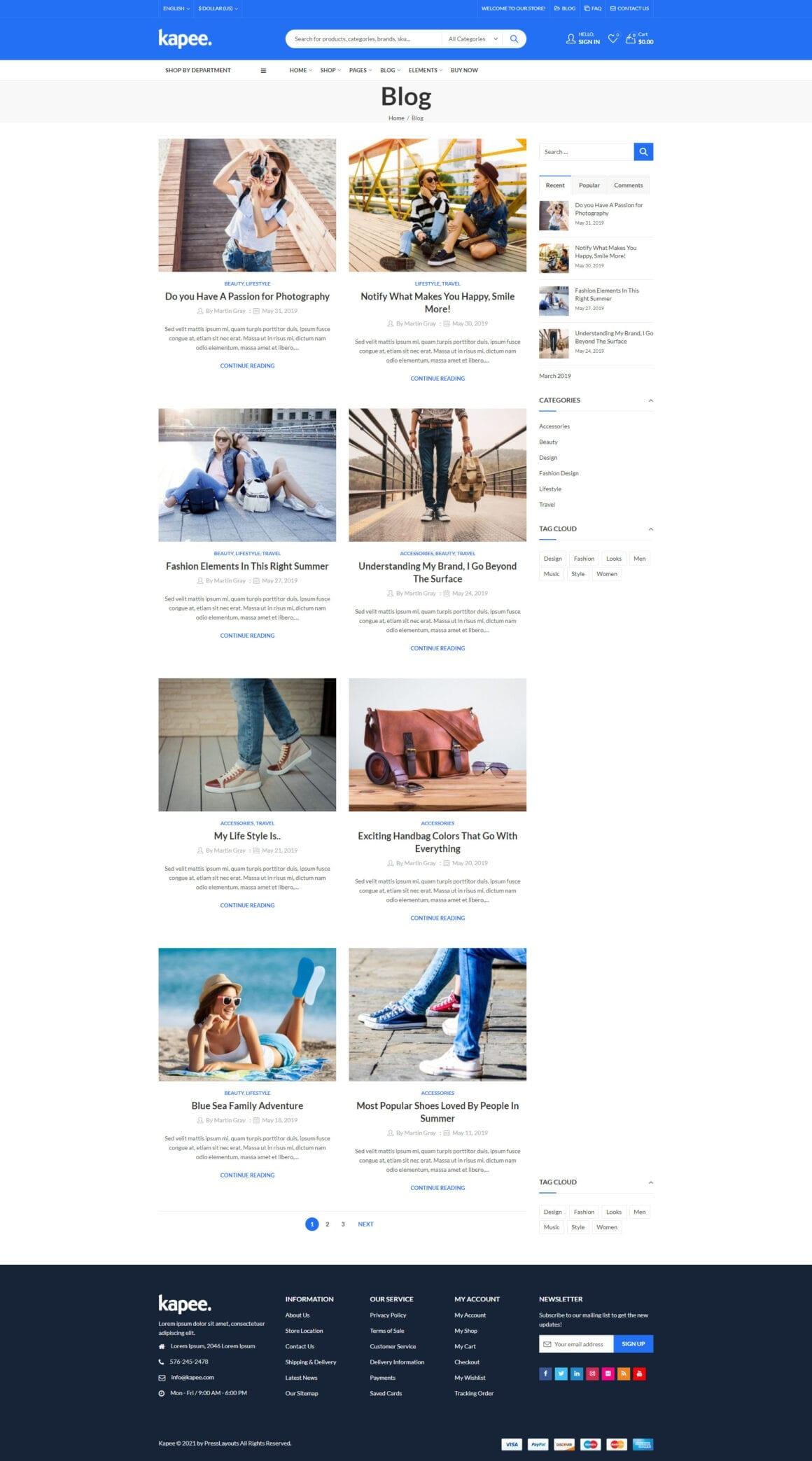 WordPress шаблоны для интернет-магазина