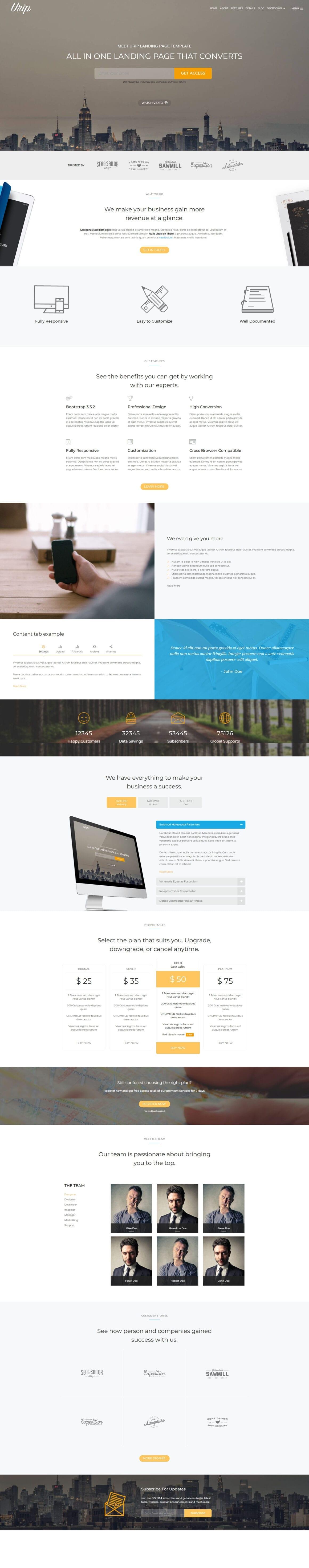 WordPress тема для лендинга