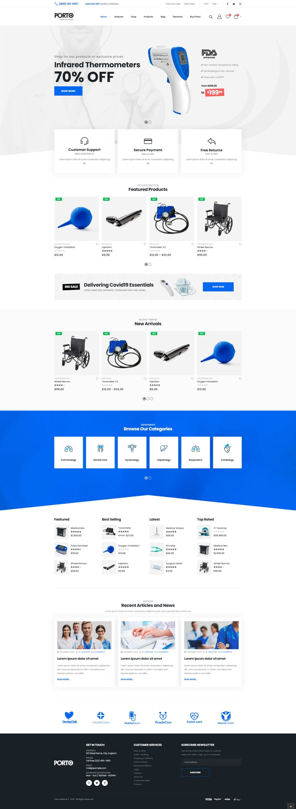 WordPress шаблон интернет магазина