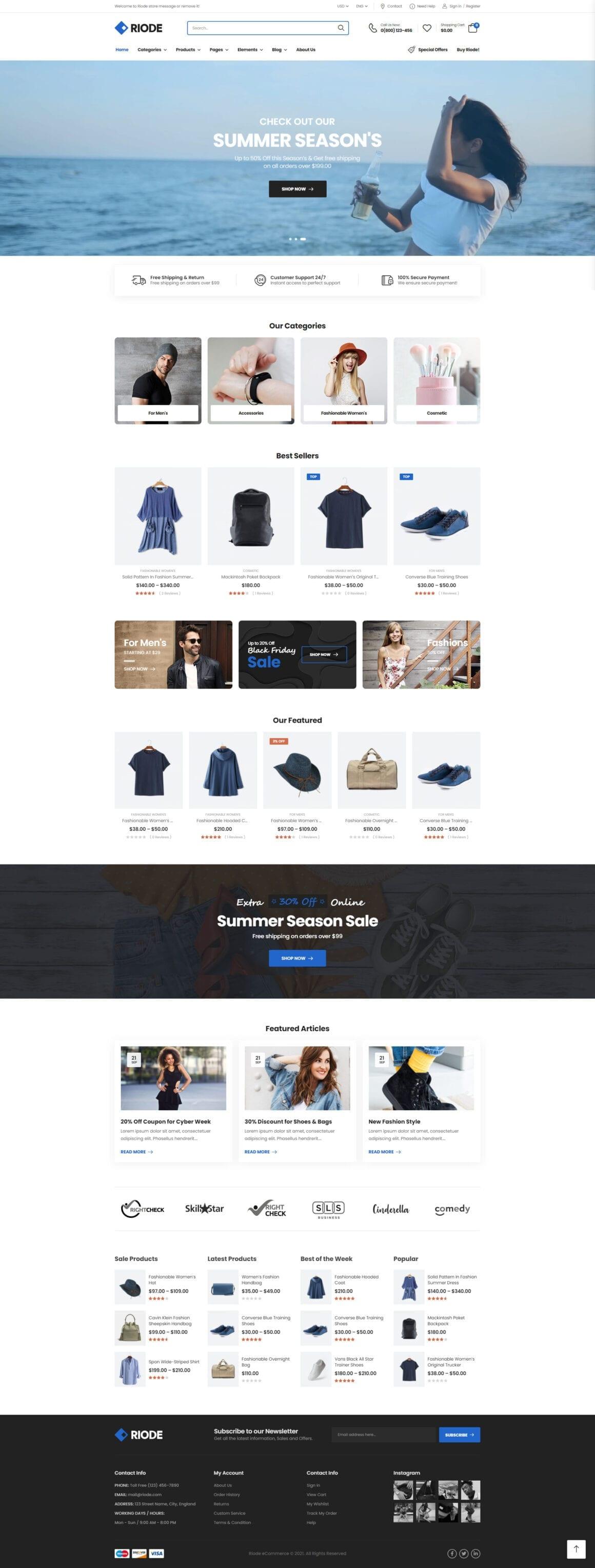 WordPress тема для интернет-магазина