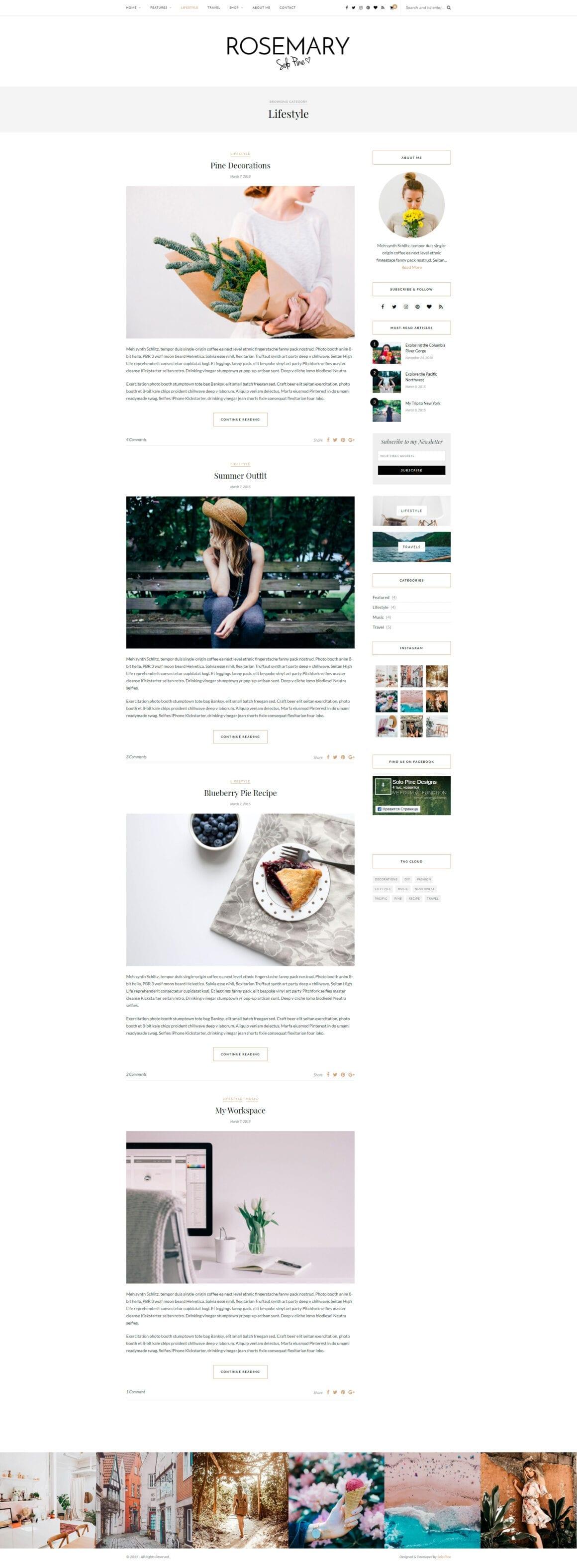 Блог тема для ВордПресс