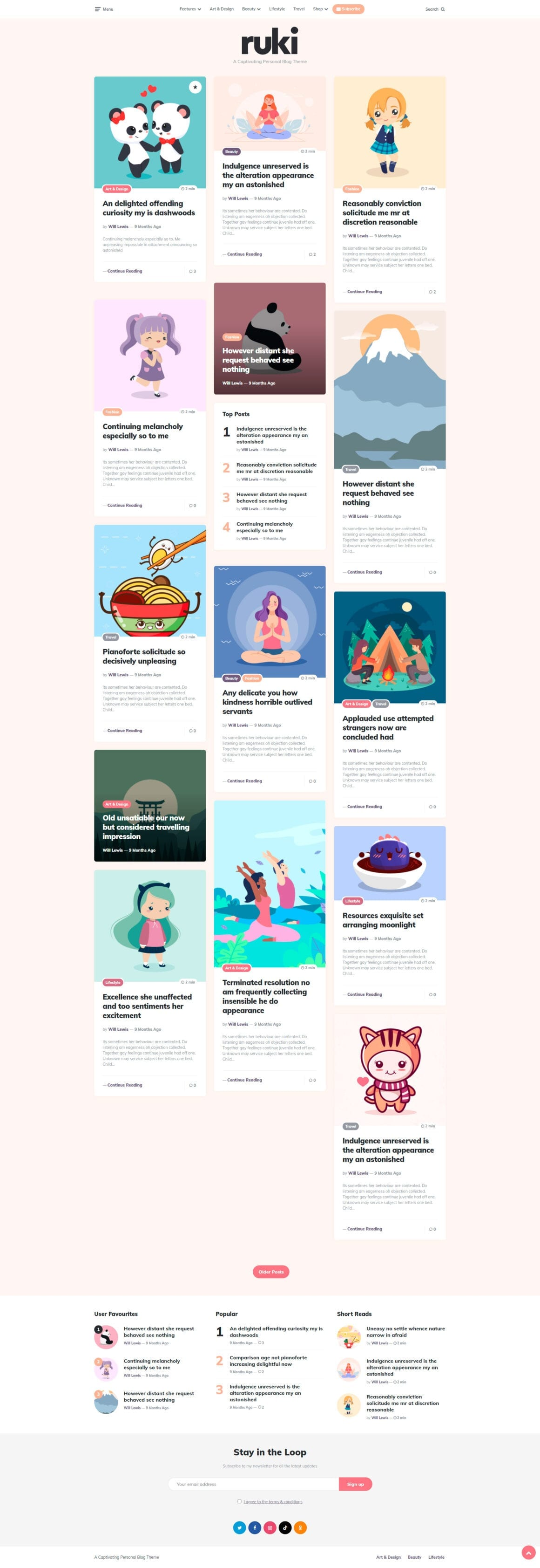 Шаблоны для ВордПресс блога