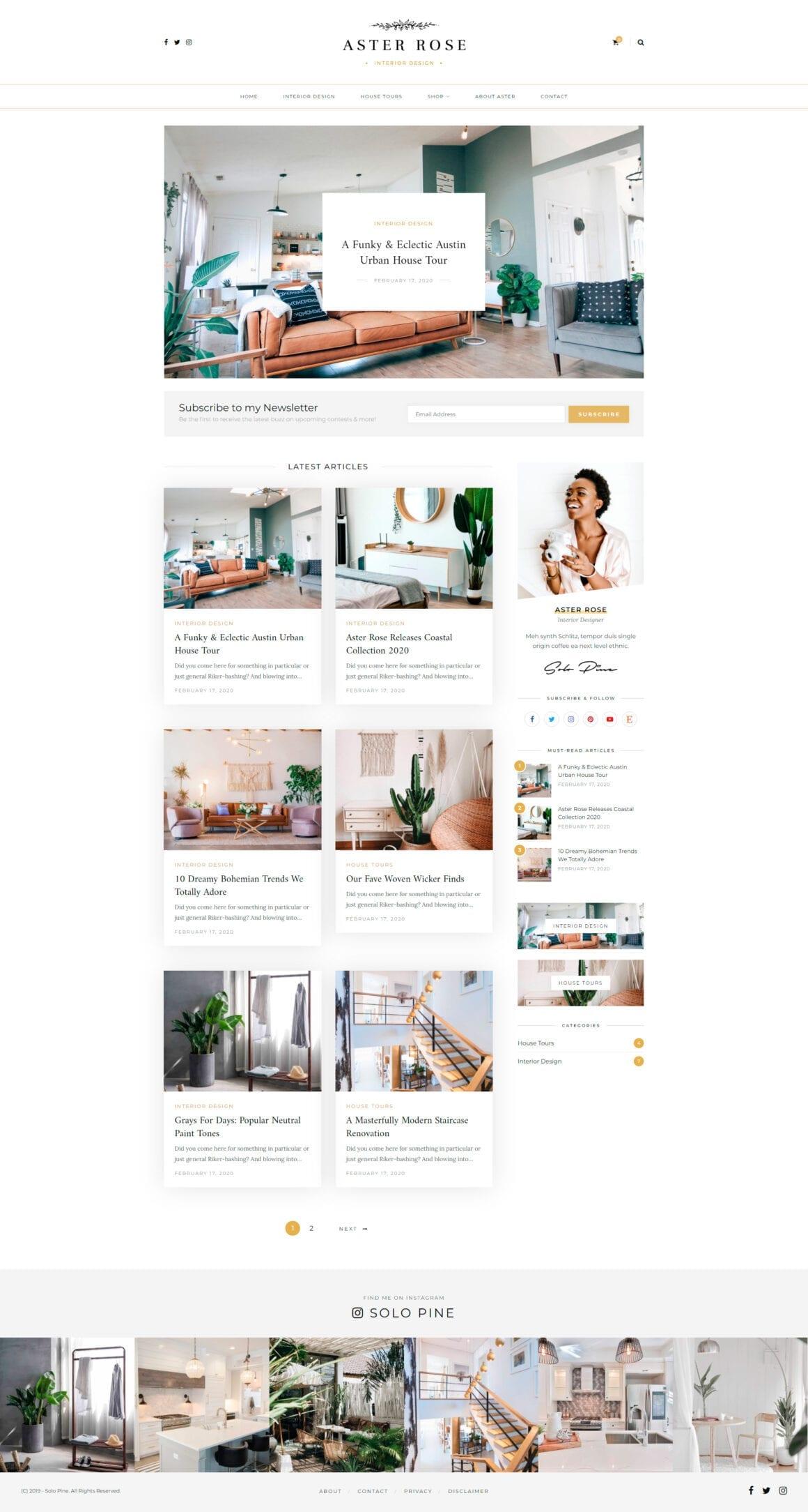 WordPress шаблон для блога