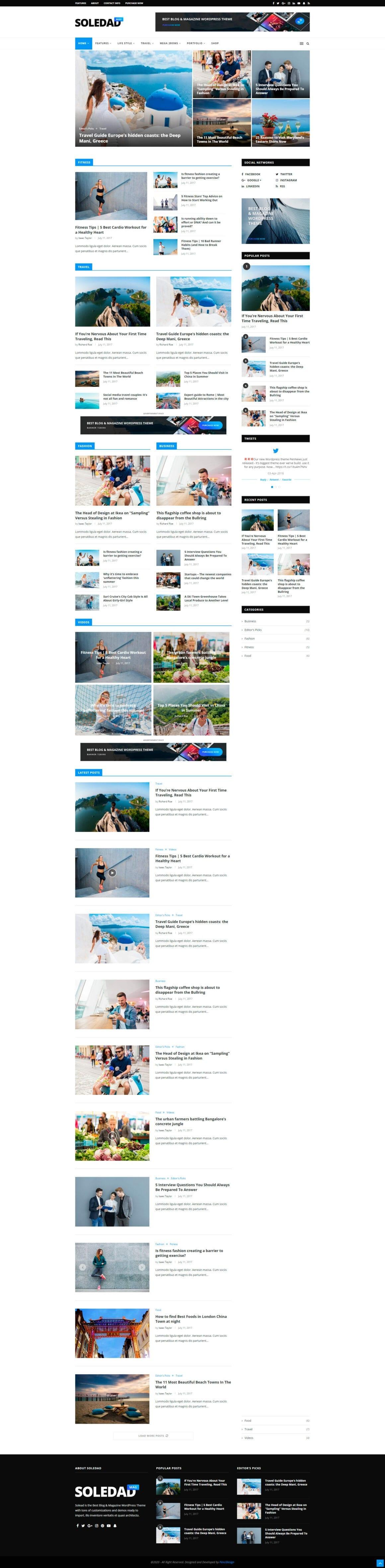 Шаблон WordPress блога