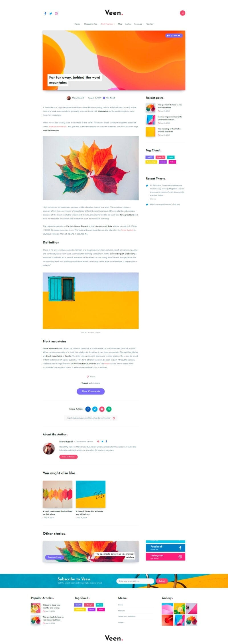 Veen - Шаблоны для блога WordPress