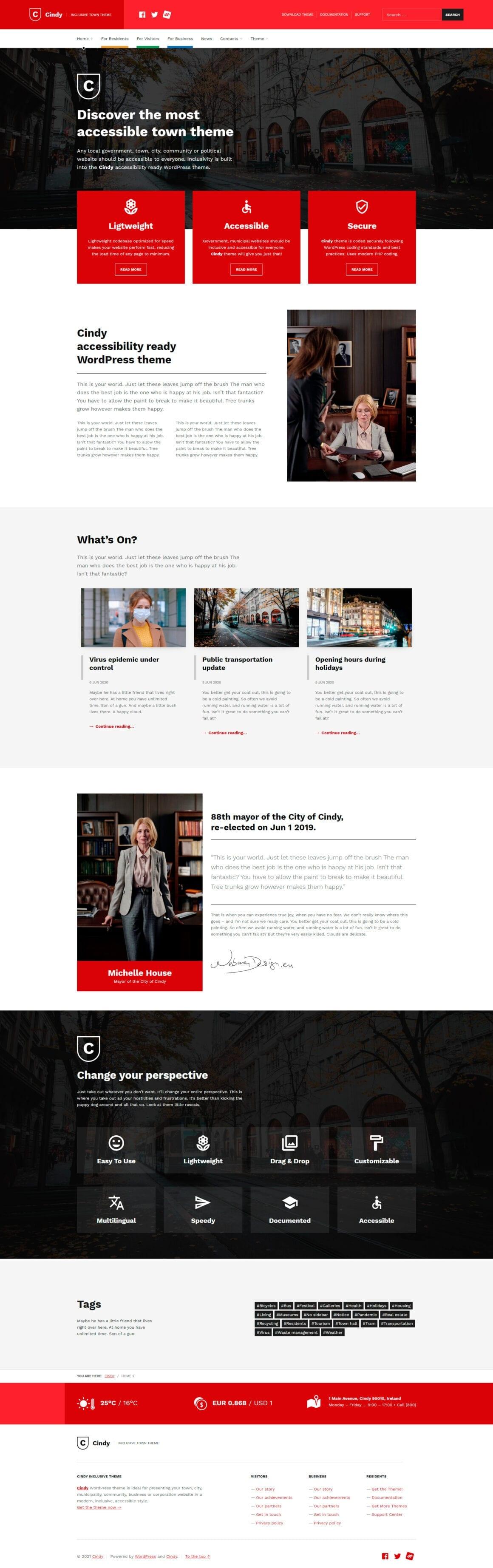 WordPress тема для сайта